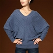 kniited deep V neck pullover sexy cashmere sweater