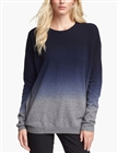 High quality Oversized Dip Dye Cashmere Blend Sweater For Women