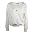 cashmere womens sweater with Emboridery Beads studs