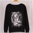 hot sale letters populor simple pattern loose printed hoody sweater without hood