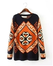 Printing Women Sweater Europe Restoring Ancient Ways Loose Pullovers Sweater Design