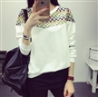 latest autumn women pullover korean cotton round neck printing sweaters