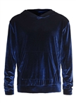 men's Navy Velvet Hoodies set superme quality athletic tailored fitted gym fitness pullover hoodies