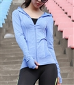 Women's Full Zip Eco Body Building Lightweight Active Yoga Gym Fitness Training Hoodie
