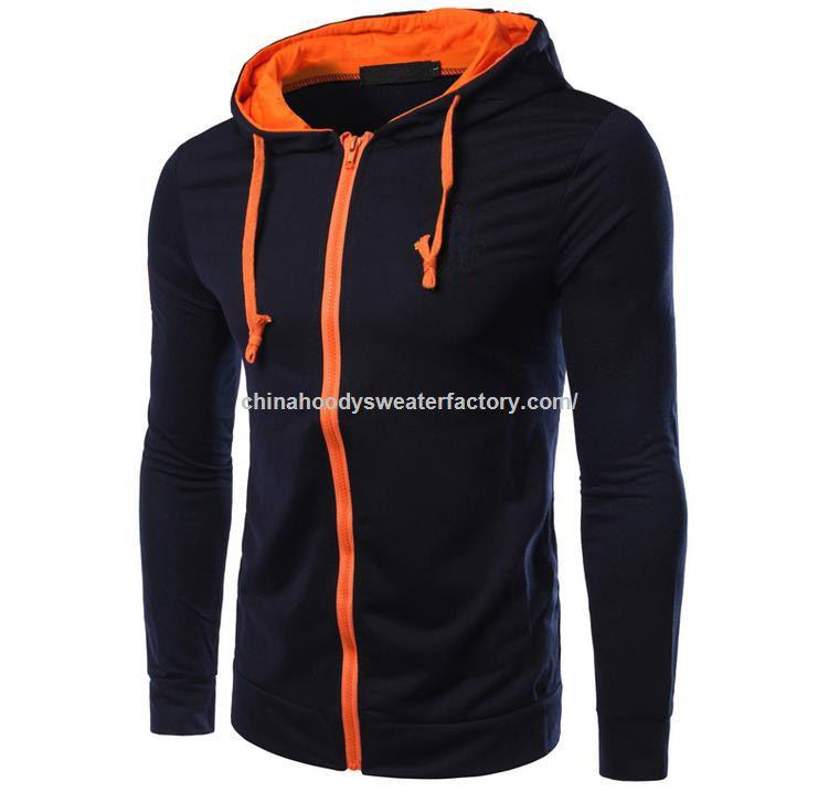 cc57a6d0352e0 La promoción barata del bordado del collar del suéter con capucha para  hombre del deporte sudaderas con capucha Cardigan