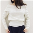 Oversized Batwing Knit Sweater Loose Jumper Pullover lady sweater