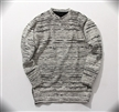 fashion men sweaters cool oversized grey zipper hip hop without hood Stripe