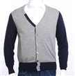 6 buttons 100% cashmere men's cardigan sweater