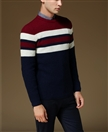 Man's Knitting Round Neck Pullover Wool/Cashmere Sweater