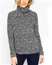 china clothing/Chunky cashmere sweater With High Neck In Boucle