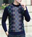 wholesale round neck stripped men's 100% cashmere sweater