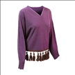 China manufacturer long sleeve V neck fashion 100% cashmere pullover sweater