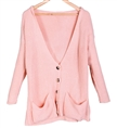 Womens Autumn Hoodie Knitted Sweater Oversized Cardigan Coat Blouse
