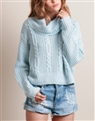 christmas sweater woman winter oversized light blue sweater