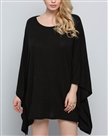 Sweaters fashion women Cape Style Asymmetric Oversized Knitwear