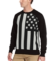 American apparel custom men's flag print sweater without hood zip-up
