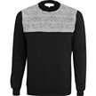 Black wholesale crewneck Print Sweatshirt men embroidered sweaters