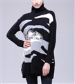 Women Pullover Print Sweater