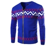 korean style pattern print mens casual pullovers sweaters