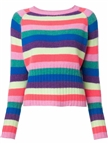ladies' worsted round-neck printing cashmere wool pullover sweater