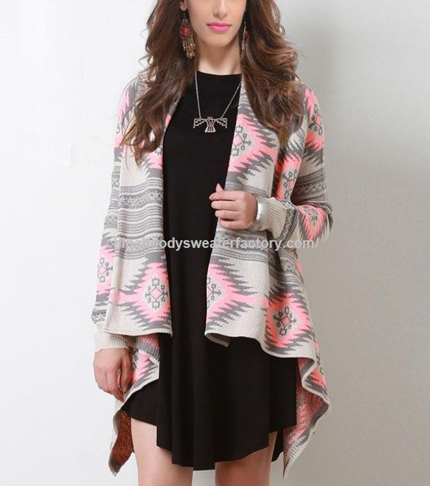 dissymmetry geometric pattern design sexy winter knitted sweater women