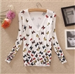new spring women's butterfly print cardigan sweaters for women