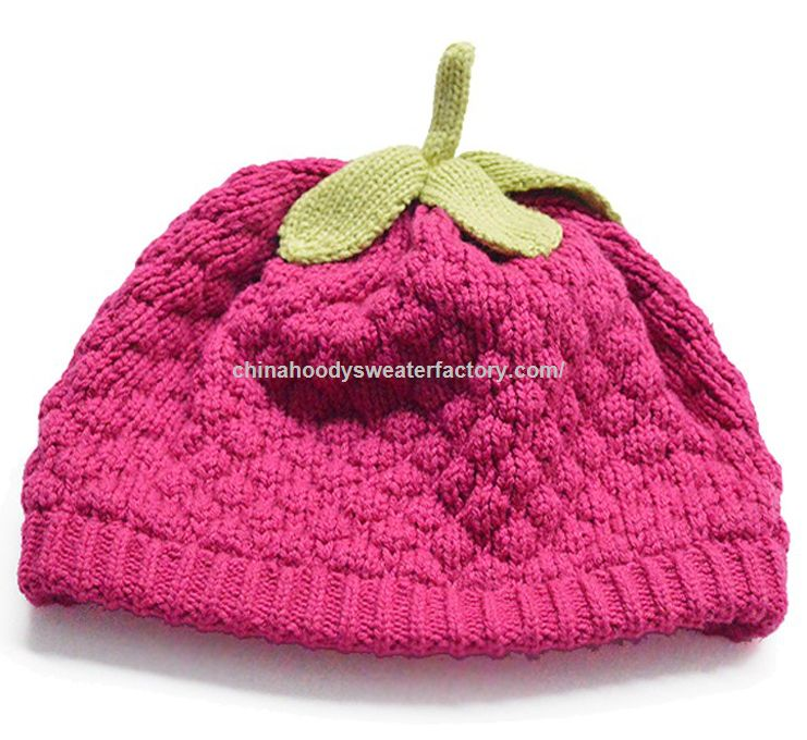 Winter custom baby knitted hat female crochet baby hats