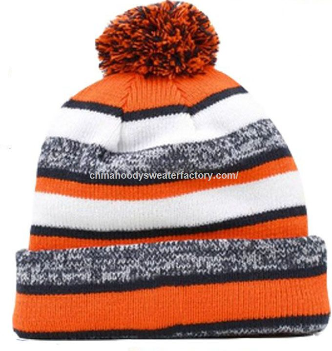 Colorful Arcylic Fabric Custom Winter Beanie Knitted Hat