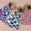fashion custom genuine raccoon fur women winter knitted hat