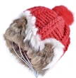 Lady Knitted Warm Beanie Hat Rabbit Fur Knitted Hat