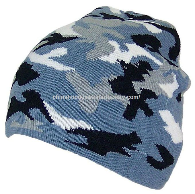 2fb8093858e Promotional Custom Military Camouflage Camo Beanie Knit Hats ...
