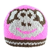Windproof plush organic children knitted hat with animal design